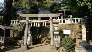 代田八幡神社 天明五年奉納鳥居