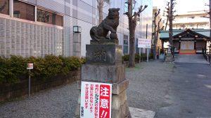 市守大鳥神社 狛犬 (1)
