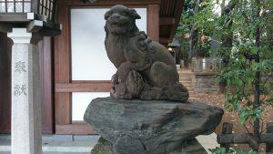代田八幡神社 狛犬 (2)
