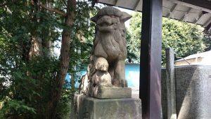 子安八幡神社 狛犬 (1)