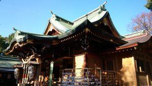 花畑大鷲神社 拝殿