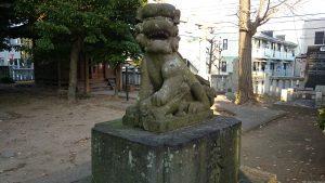 栗原氷川神社 狛犬 (2)
