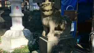 花畑大鷲神社 狛犬 (2)