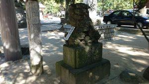 意富比神社(船橋大神宮)狛犬 (2)