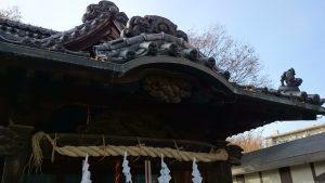 六月八幡神社 拝殿向拝