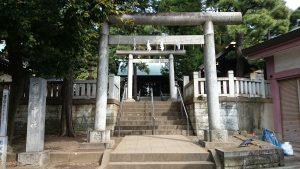 用賀神社 鳥居と社号標