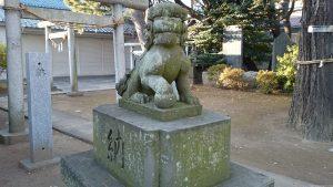 栗原氷川神社 狛犬 (1)