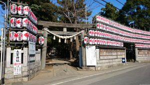 花畑大鷲神社 社頭