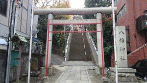 西久保八幡神社 鳥居と社号標
