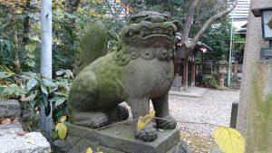 西久保八幡神社 二の鳥居脇狛犬 (1)