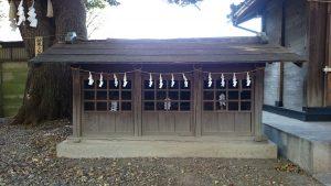 上青木氷川神社 末社殿1