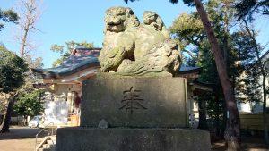 天沼八幡神社 狛犬 (2)