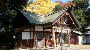 上青木氷川神社 拝殿