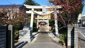 上青木氷川神社 一の鳥居