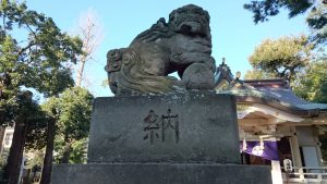 天沼八幡神社 狛犬 (1)