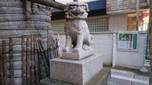 誕生八幡神社 狛犬 (2)