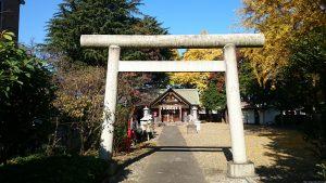 上青木氷川神社 二の鳥居
