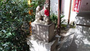 日枝神社日本橋摂社 明徳稲荷神社 狐像 (1)