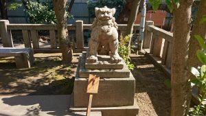 猿江神社 狛犬 牡