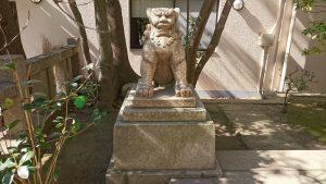 猿江神社 狛犬 牝