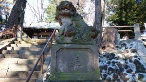 三宿神社 大正15年奉納狛犬 (2)