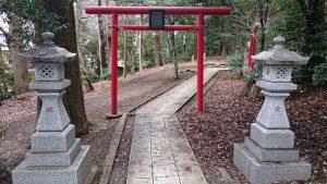 谷保天満宮 稲荷神社・蒼守稲荷神社・淡島神社 一の鳥居
