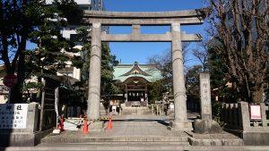 猿江神社 鳥居と社号標