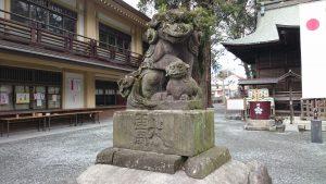 谷保天満宮 狛犬 (1)