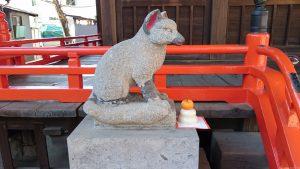 野澤稲荷神社 神狐 (1)