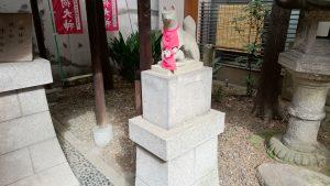 日枝神社日本橋摂社 明徳稲荷神社 狐像 (2)