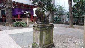 日枝神社日本橋摂社 狛犬 (2)