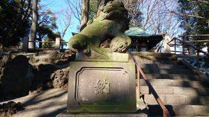 三宿神社 大正15年奉納狛犬 (1)