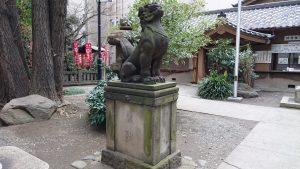 日枝神社日本橋摂社 狛犬 (1)