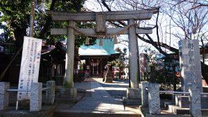 野澤稲荷神社 鳥居と社号標