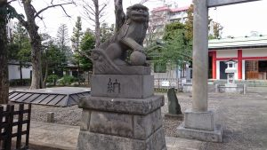 池袋氷川神社 狛犬 (1)