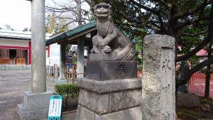 池袋氷川神社 狛犬 (2)