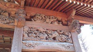多摩市・小野神社 随身門彫刻 (2)