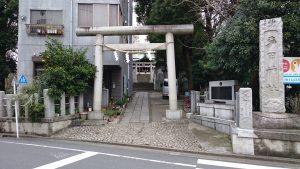 多田神社 鳥居と社号標