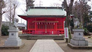 多摩市・小野神社 拝殿