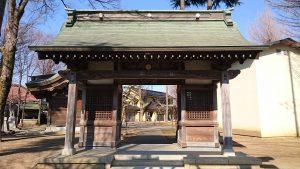 多摩市・小野神社 南門