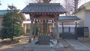 多摩市・小野神社 手水舎