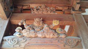 多摩市・小野神社 随身門彫刻 雷神