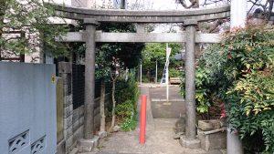 子安稲荷神社 脇参道鳥居