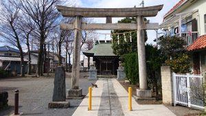 府中小野神社 (小野宮) 鳥居と社号標