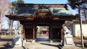 多摩市・小野神社 随身門