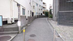 駒込妙義神社 参道近道入口