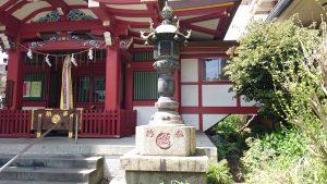 大森神社 青銅燈籠 (2)