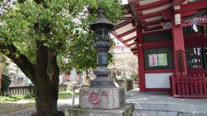 大森神社 青銅燈籠 (1)
