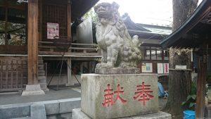 宇迦八幡宮 狛犬 (2)
