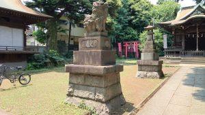 大森山王日枝神社 大正12年狛犬 (1)